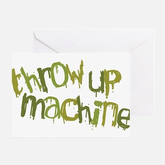 Throw Up Machine Greeting Card