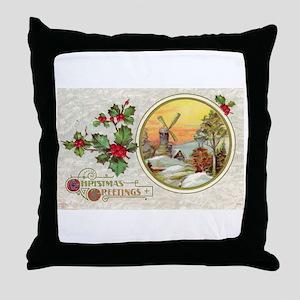 Dutch Christmas Throw Pillow
