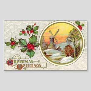 Dutch Christmas Rectangle Sticker