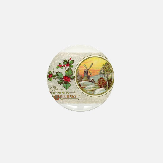 Dutch Christmas Mini Button (10 pack)