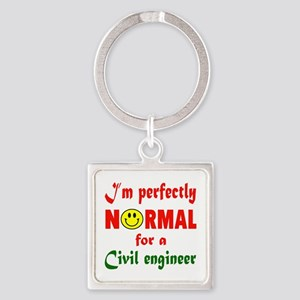 I'm perfectly normal for a Civil e Square Keychain