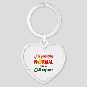 I'm perfectly normal for a Civil en Heart Keychain