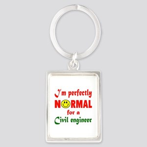 I'm perfectly normal for a Civil Portrait Keychain