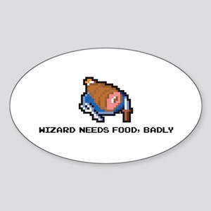 wizard needs food Oval Sticker