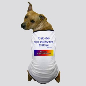 Repeal Prop 8 Rainbow Dog T-Shirt
