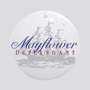 Mayflower Descendant - Ornament (Round)