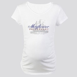 Mayflower Descendant - Maternity T-Shirt