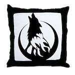 Wolfire Throw Pillow