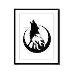 Wolfire Framed Panel Print