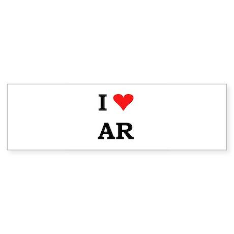 I Heart Arkansas Bumper Sticker