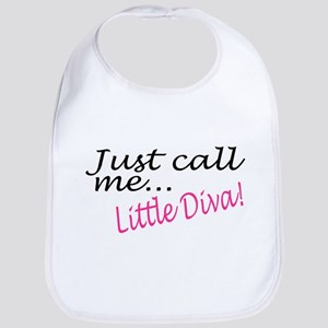 Just Call Me Little Diva Bib