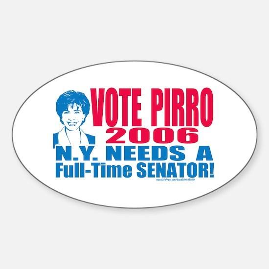 Jeannine Pirro Senate 2006 Oval Decal