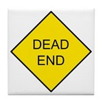 Dead End Sign Tile Coaster