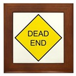 Dead End Sign Framed Tile