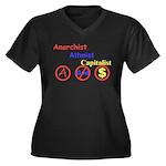 CH-04 Women's Plus Size V-Neck Dark T-Shirt