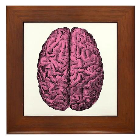 Human Anatomy Brain Framed Tile