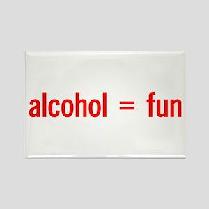 Alcohol = Fun Rectangle Magnet