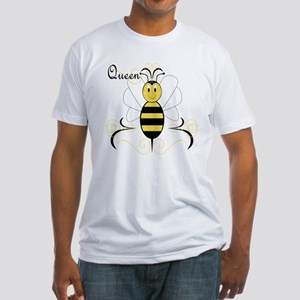 Smiling Bumble Bee Queen Bee Fitted T-Shirt