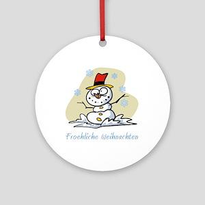 German Merry Christmas Ornament (Round)