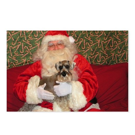 Airedale Santa Postcards (Package of 8)