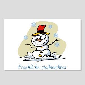 German Merry Christmas Postcards (Package of 8)