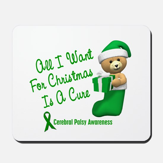 Bear In Stocking 1 (Cerebral Palsy) Mousepad