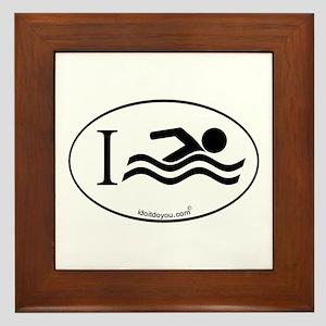 i Swim Framed Tile