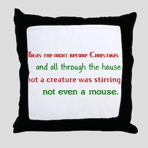 Night Before Christmas Throw Pillow