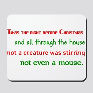 Night Before Christmas Mousepad