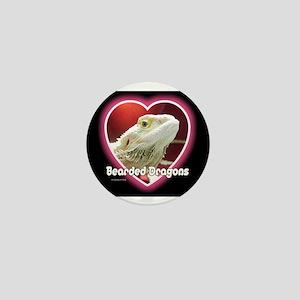 Bearded Dragons Heart Mini Button