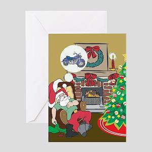 Santas Motorcycle Greeting Card