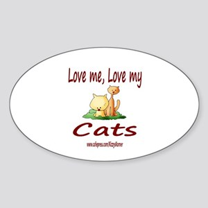 CATS 1 Oval Sticker