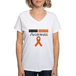Kidney Cancer Awareness Women's V-Neck T-Shirt