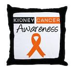 Kidney Cancer Awareness Throw Pillow