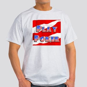 Play Poker Ash Grey T-Shirt