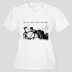 OCD Reader Women's Plus Size V-Neck T-Shirt