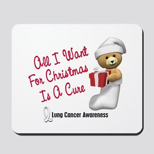 Bear In Stocking 1 (Lung Cancer) Mousepad