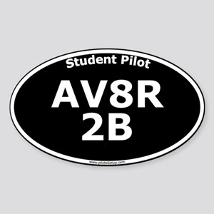 AV8R 2B Sticker (Oval, black)
