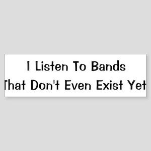 Bands Bumper Sticker