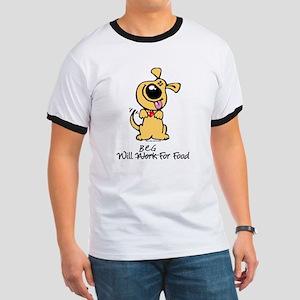 Dog will beg for food Ringer T