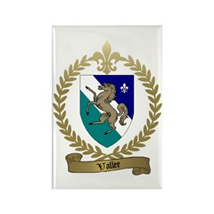 VALLEE Family Crest Rectangle Magnet