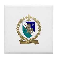 VALLEE Family Crest Tile Coaster