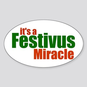 FESTIVUS™ Miracle Oval Sticker