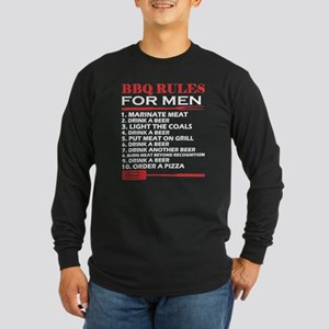 BBQ Rules For Men Drink A Beer Long Sleeve T-Shirt