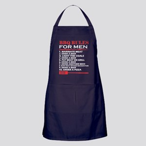 BBQ Rules For Men Drink A Beer Barbec Apron (dark)