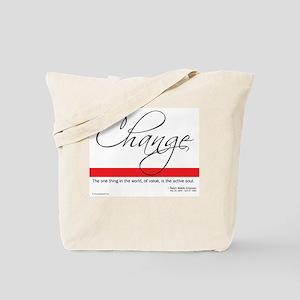 Emerson Quote - Change Tote Bag