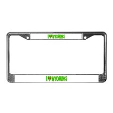 I Love-Alien Wyoming License Plate Frame