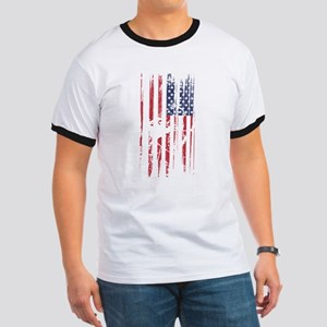 Archery Mom Dad Pride American Flag T-Shirt