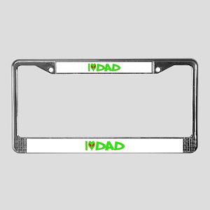 I Love-Alien Dad License Plate Frame