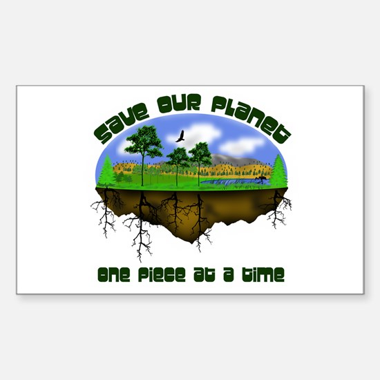 Save Our Planet Rectangle Decal